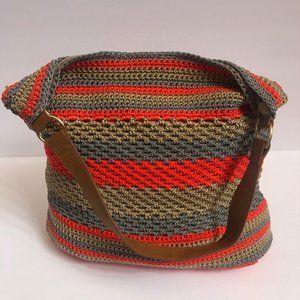 Straw Studio Handbag Crochet Shoulderbag Large NEW